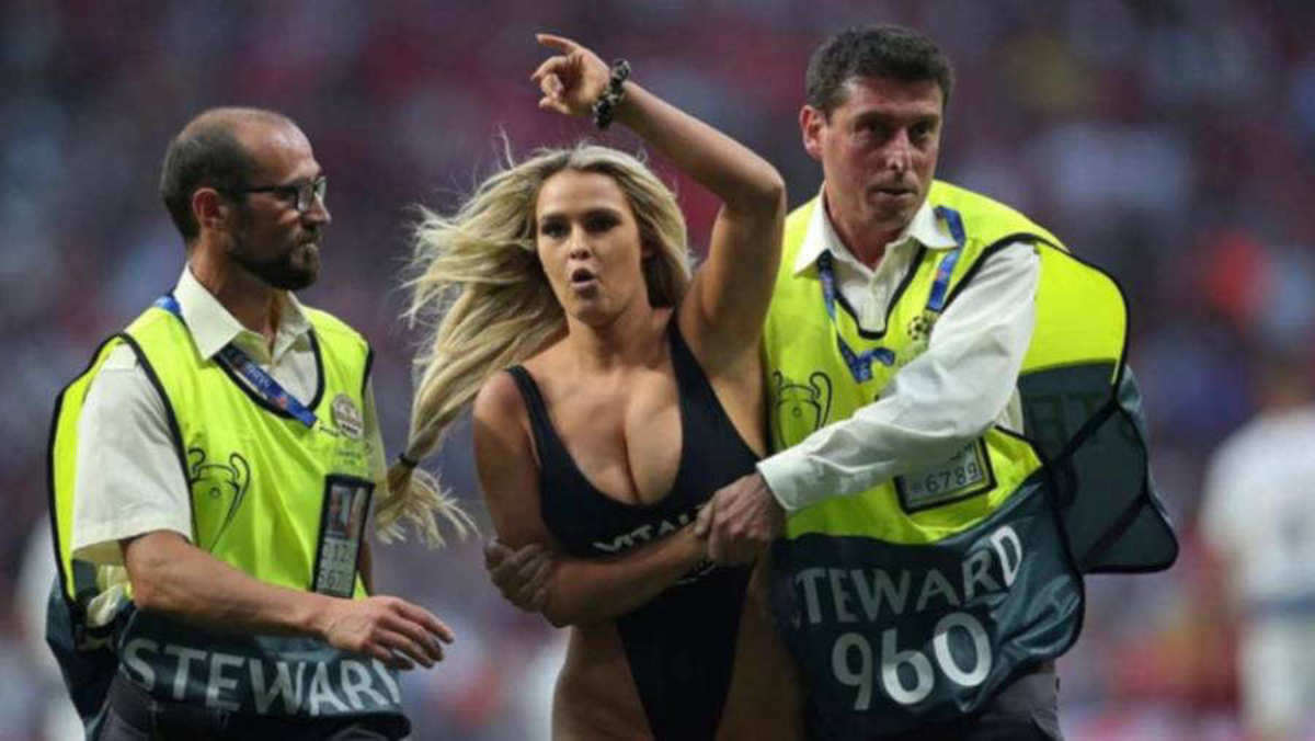 Champions League Finals Invader Kinsey Wolanski Gains Over Two Million Instagram Followers After Stunt