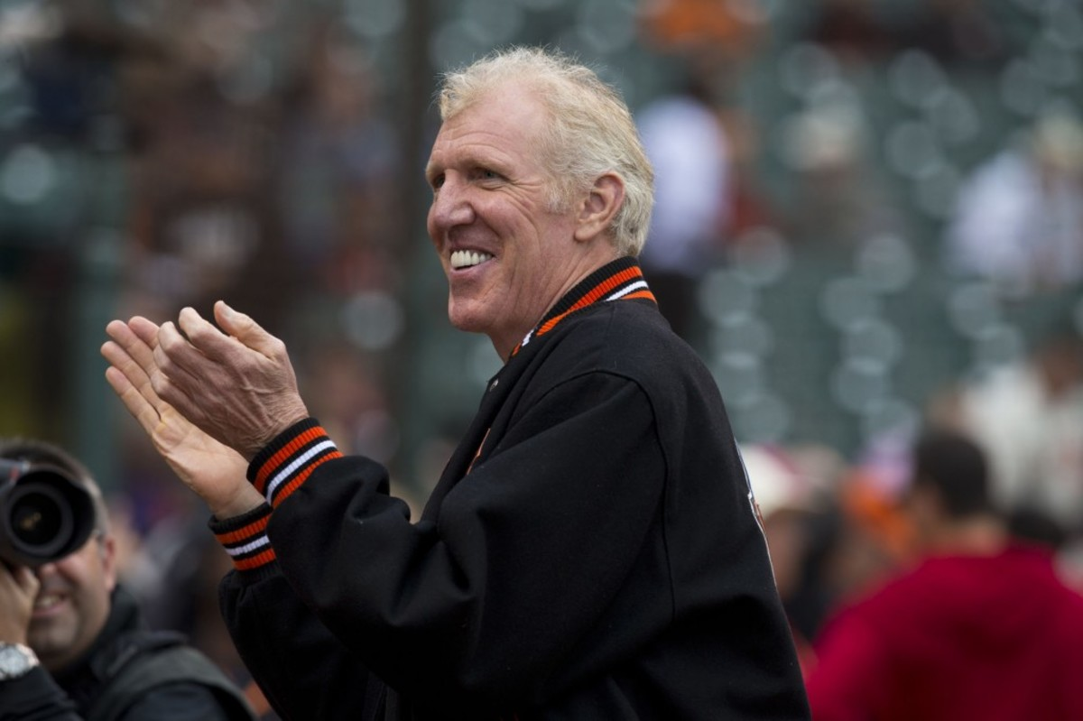 SAN FRANCISCO, CA - AUGUST 05: NBA Hall of Fame player Bill Walton stands on the field before the game between the San Francisco Giants and the Milwaukee Brewers at AT&T Park on August 5, 2013 in San Francisco, California. The San Francisco Giants defeated the Milwaukee Brewers 4-2. (Photo by Jason O. Watson/Getty Images)