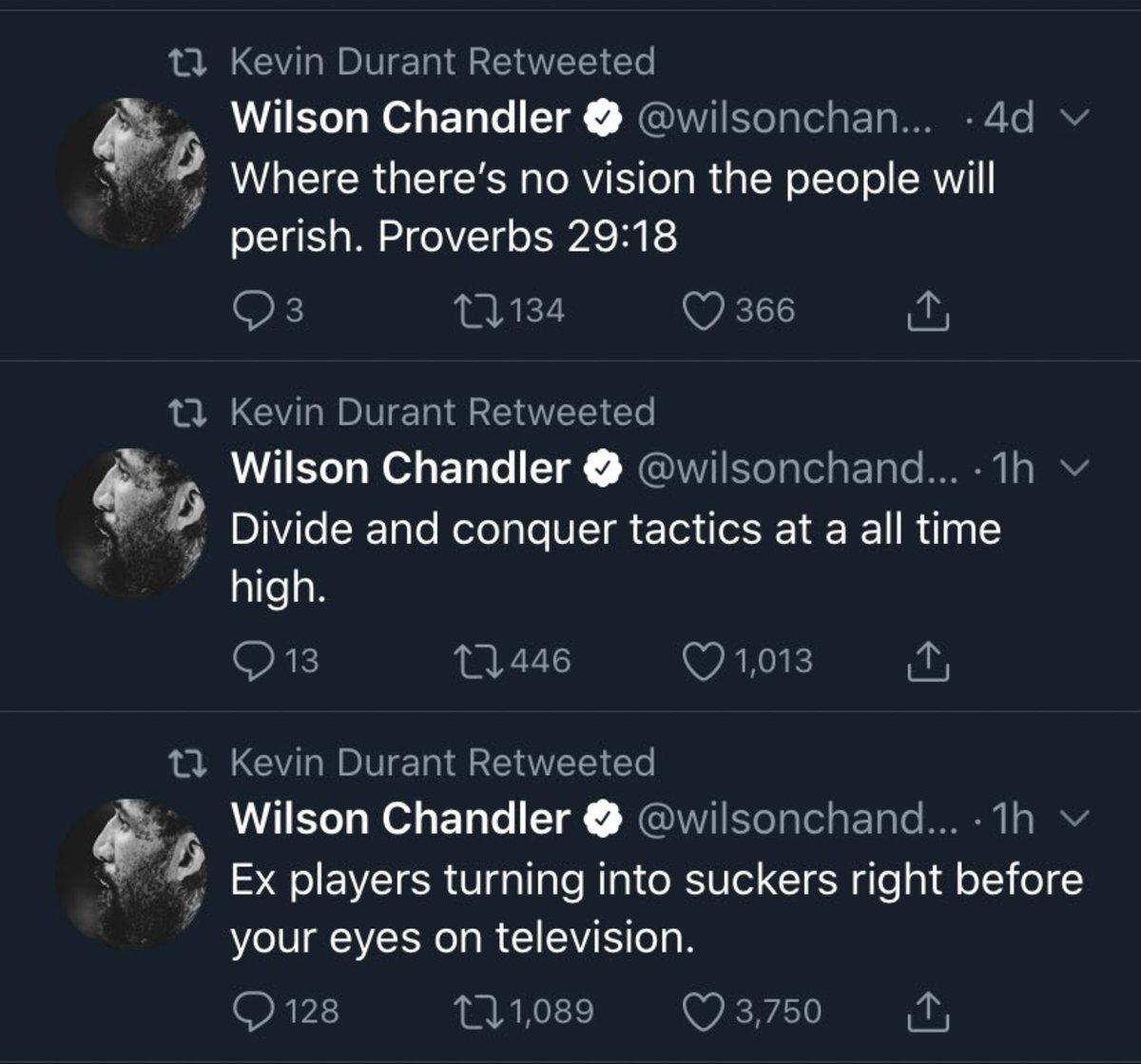 chandler tweets
