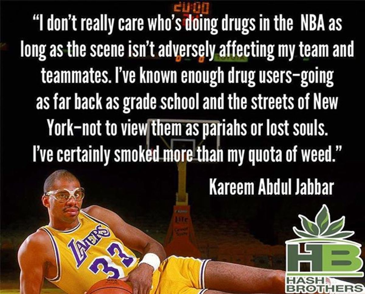 NBA All-Marijuana Team Kareem Abdul-Jabbar