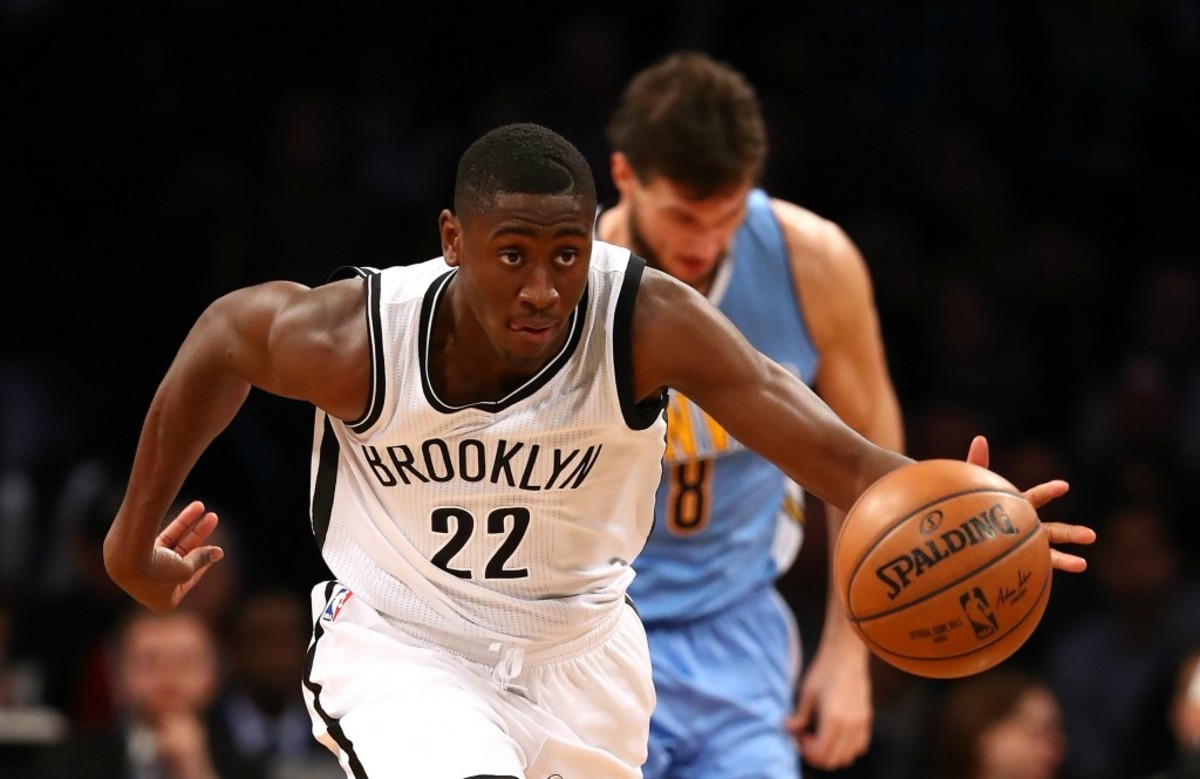 during their game at Barclays Center on December 7, 2016 in New York City.   NOTE TO USER: User expressly acknowledges and agrees that, by downloading and/or using this Photograph, user is consenting to the terms and conditions of the Getty Images License Agreement.