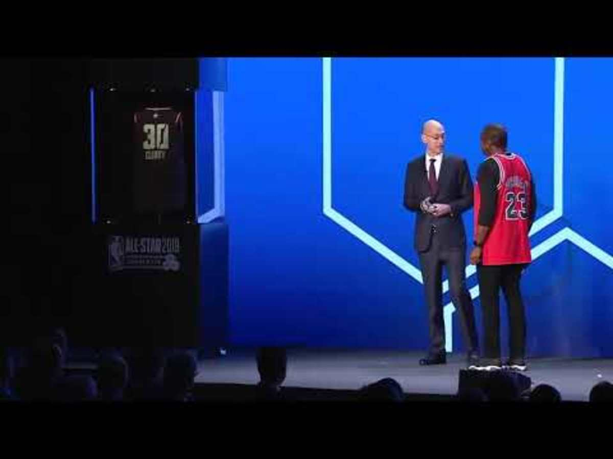 Adam Silver Unveils The NBA Jersey Of The Future, Fans' Reactions Are Priceless