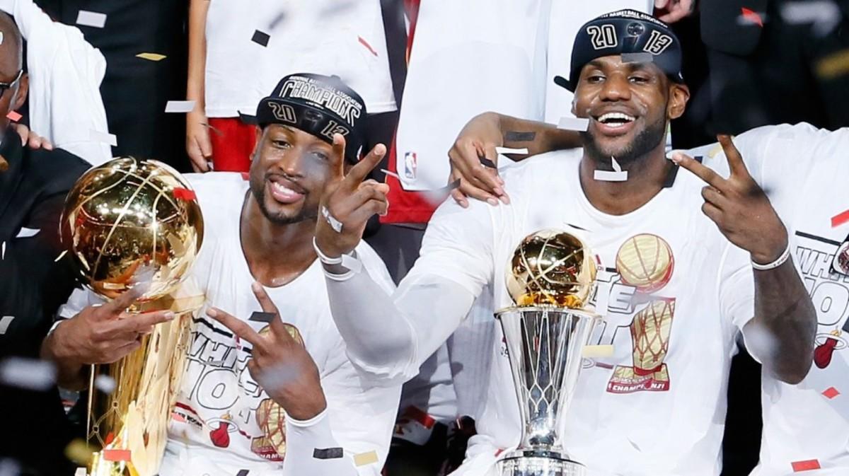 Wade and LeBron Champions