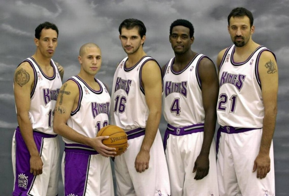 Sacramento Kings 2000s Peja Webber Divac Bibby Christie