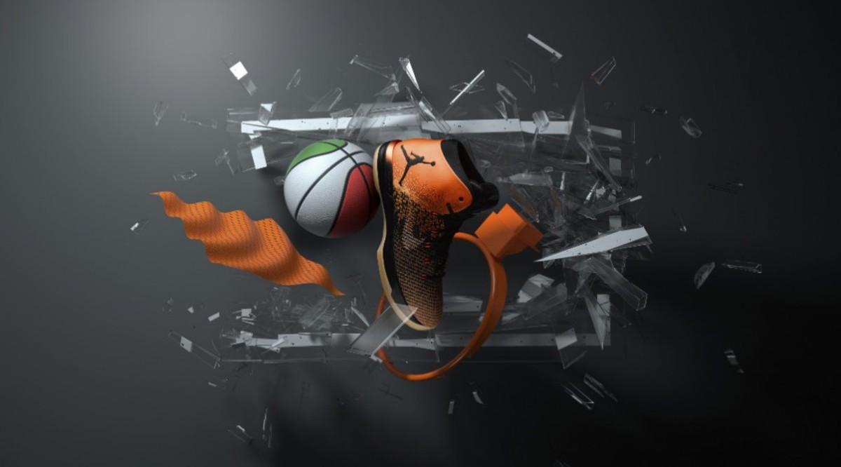 Sneaker Jordan shattered backboard