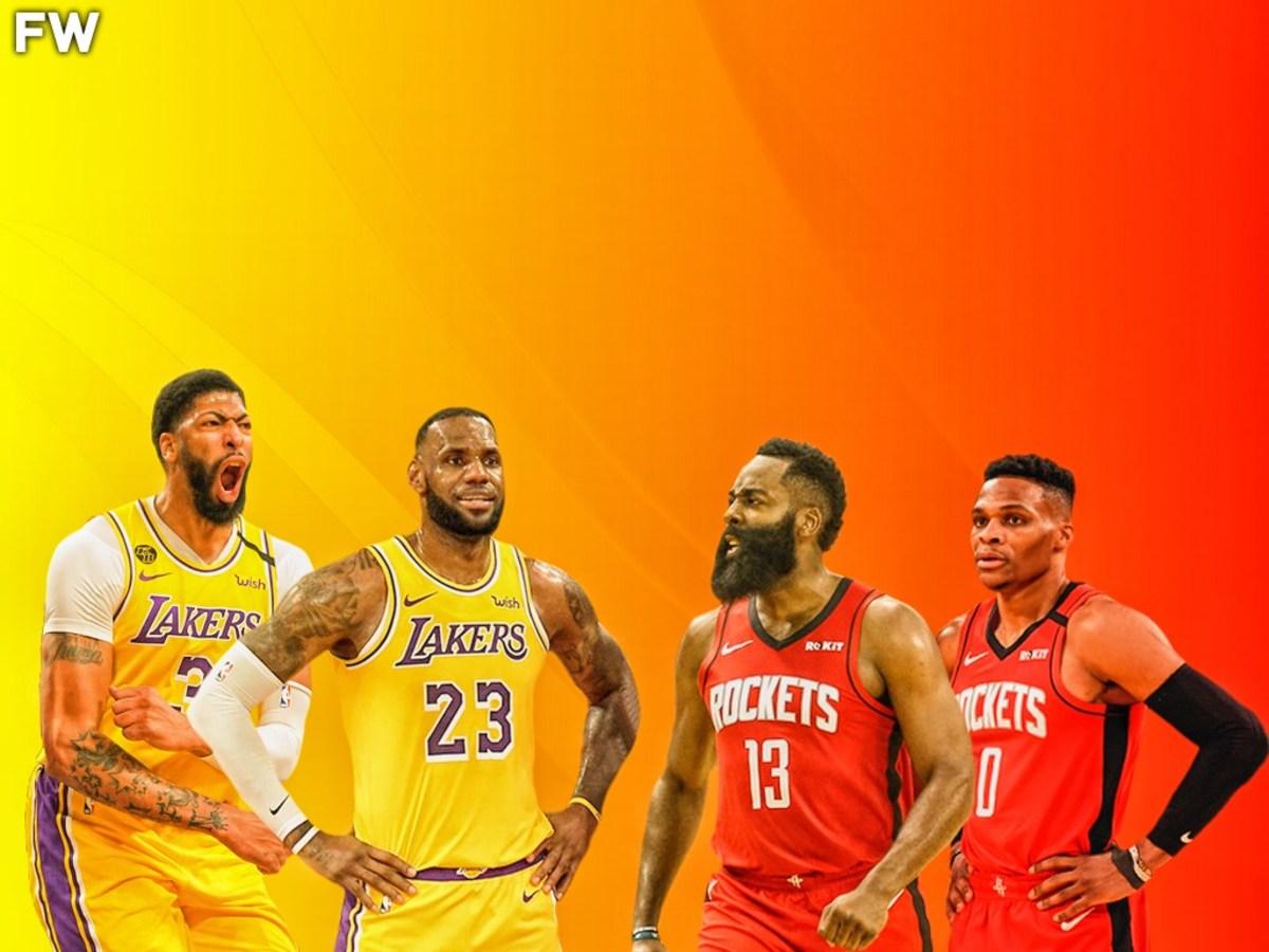 Anthony Davis, LeBron James, James Harden, Russell Westbrook