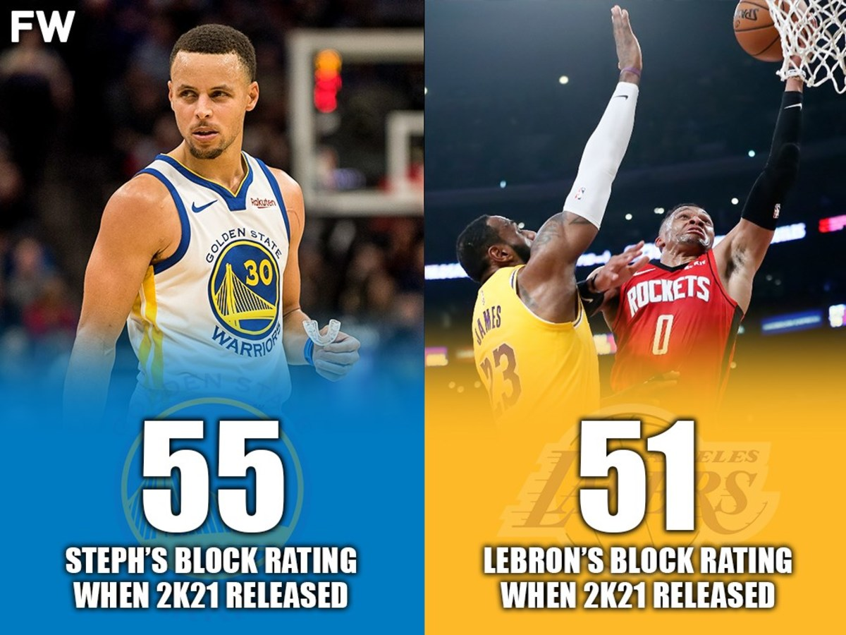 Stephen Curry Has A Better Block Rating Than LeBron James In NBA 2K21