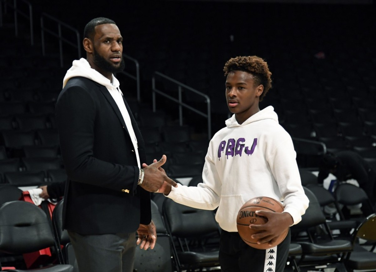 """Bronny James Was Not Impressed With LeBron James' Performance In Eastern Conference Finals Against Indiana: """"You Only Had 7 Points And 5 Fouls?"""""""