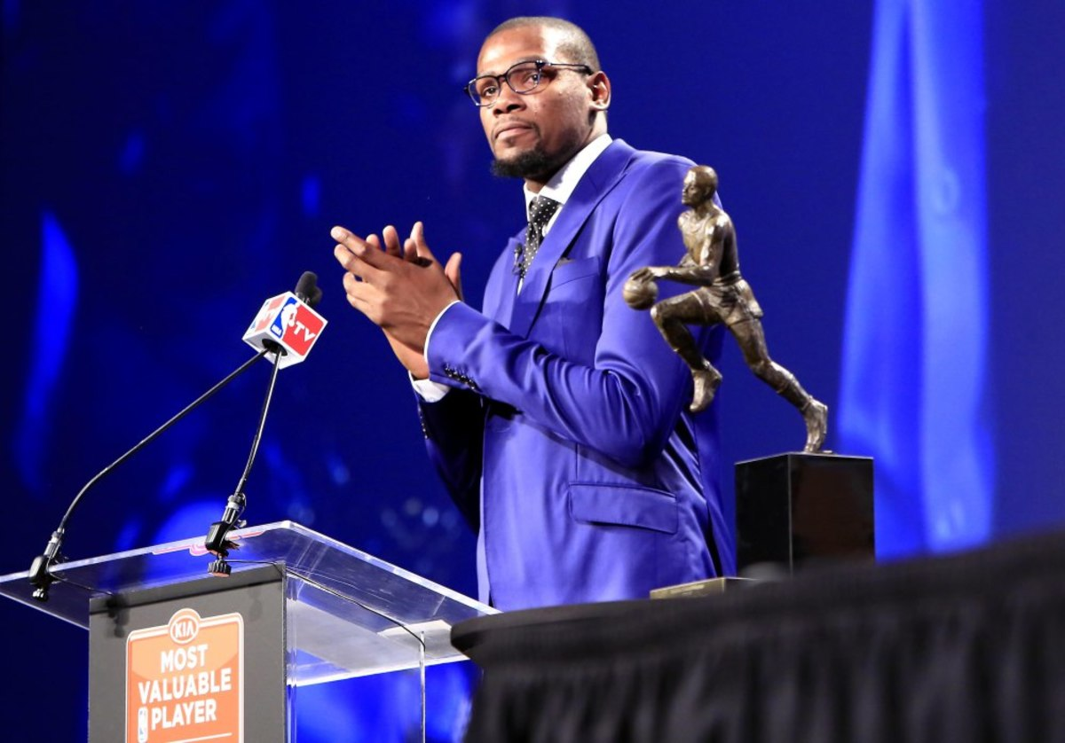 USP NBA: KEVIN DURANT-MVP PRESS CONFERENCE S BKN USA OK