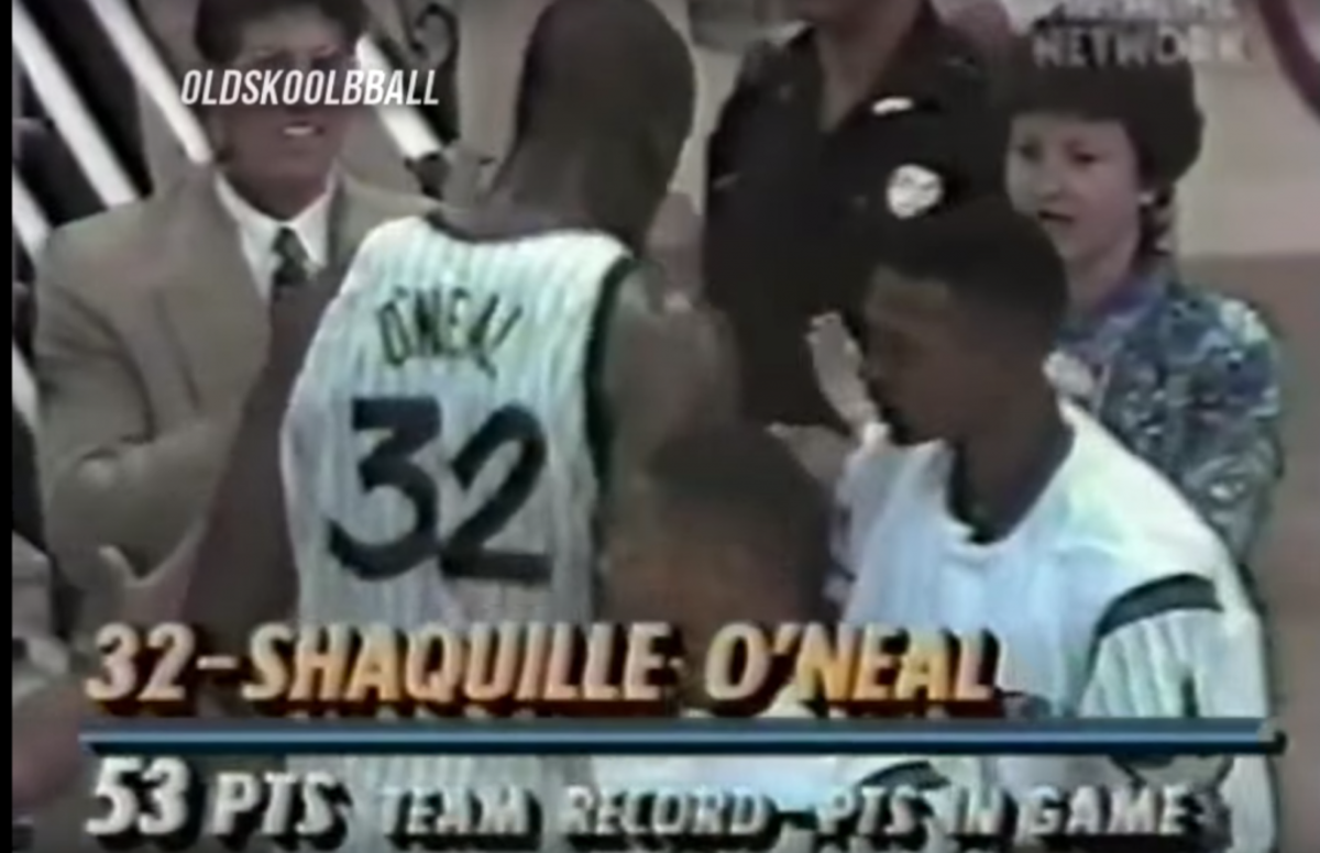 Shaquille O'Neal 53 Points 18 Rebounds vs Timberwolves