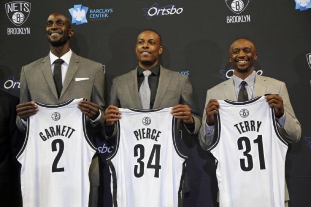 Garnett, Pierce, Terry - Brooklyn Nets