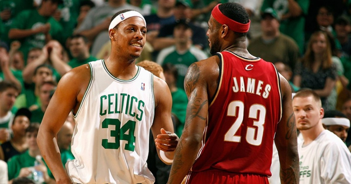 """Paul Pierce On His Rivalry With LeBron James: """"I Always Said That If He And I Were The Same Age, I'd Be Different. He Might Not Have Gotten Those Championships In Miami If I Was 26 And He Was 26."""""""