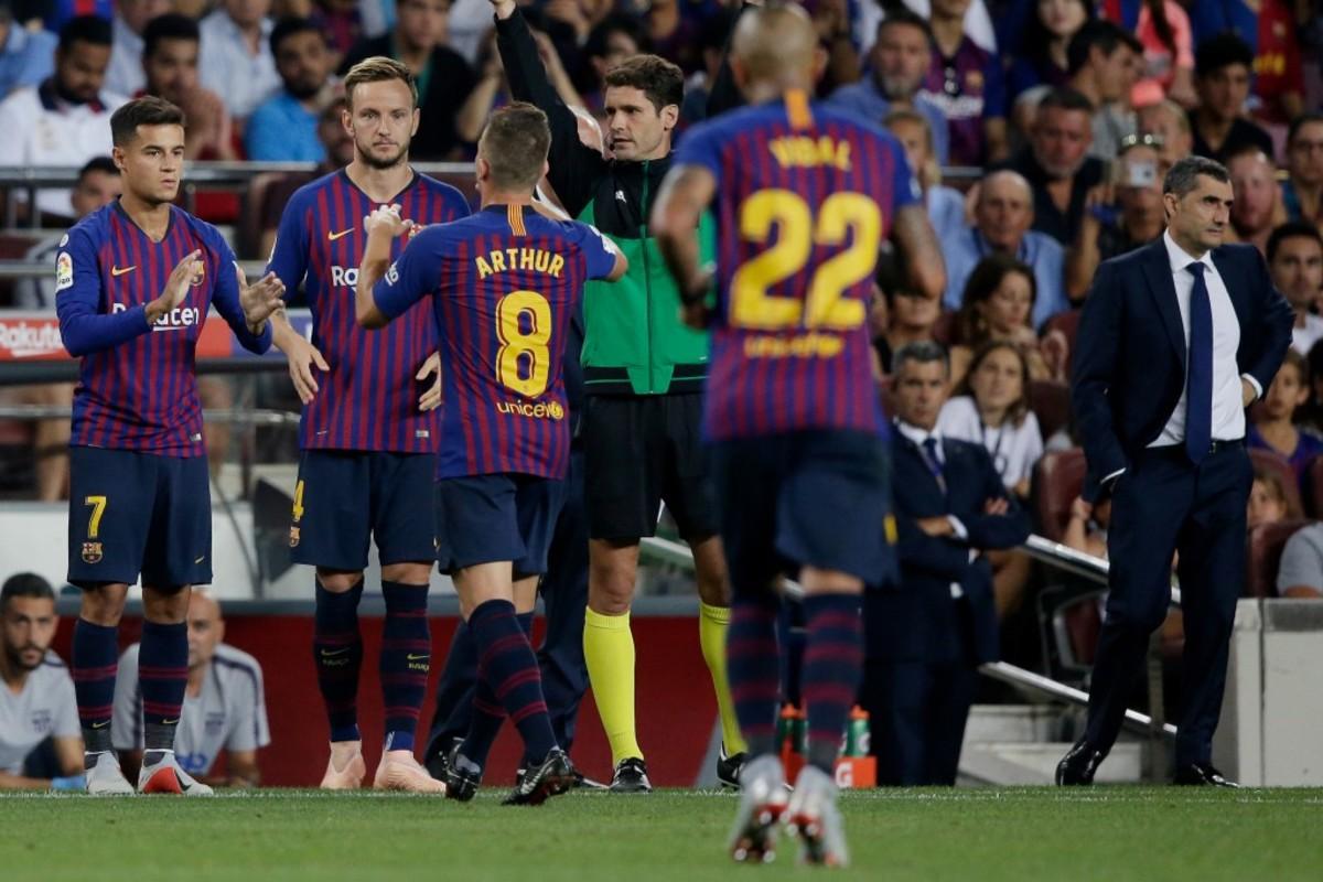 Rakitic Vidal Coutinho Barcelona