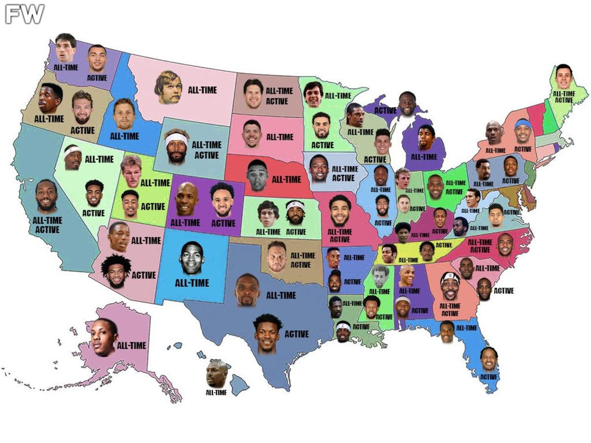 The Best Basketball Player Born In Each US State: All-Time And Right Now