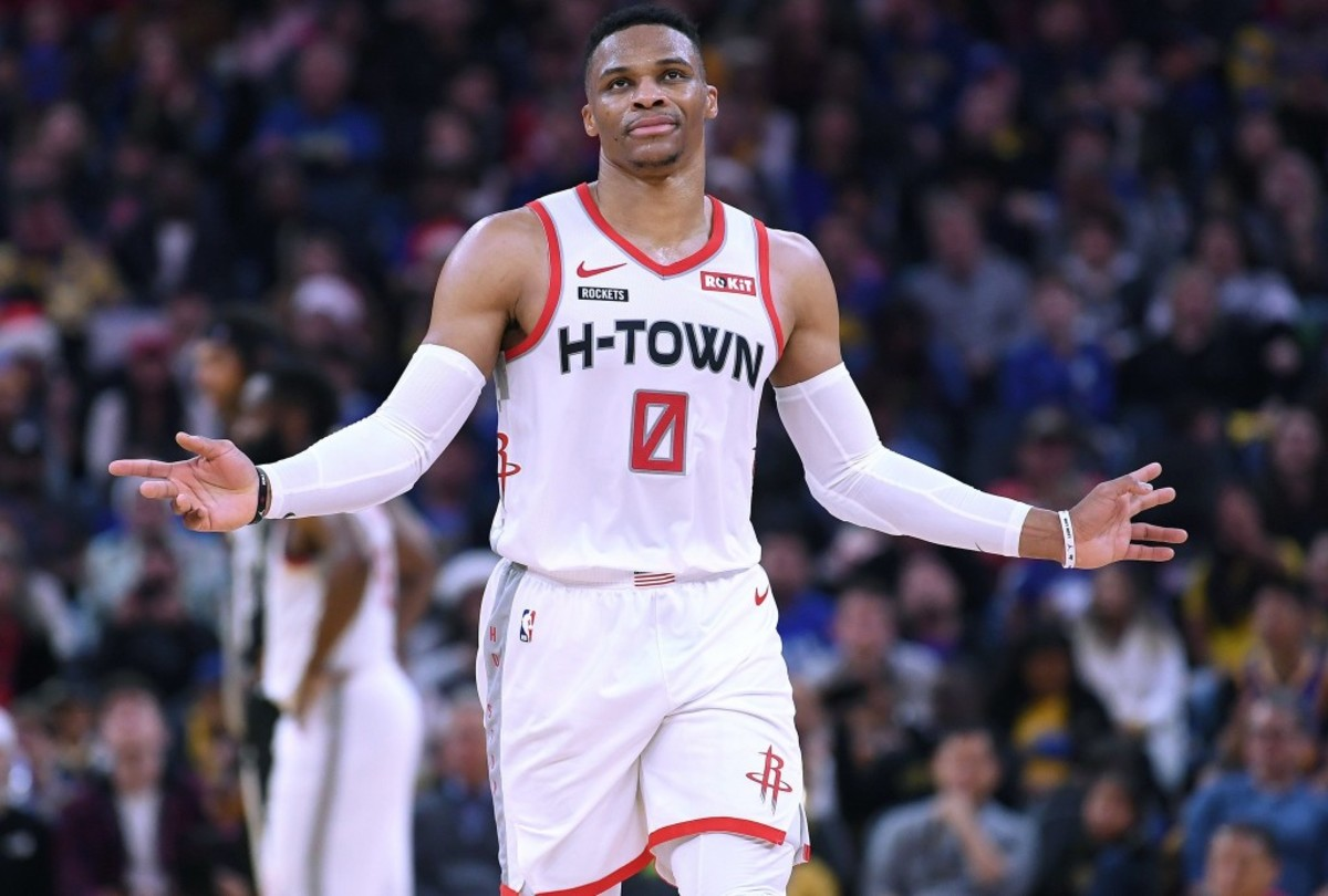 """Russell Westbrook Sends A Message To Lakers Shooters: """"No Extra Shots. He Can Shoot Those Shots Tomorrow Or Before The Game. Every Time They Shoot The Ball, We're Going To Be Right There."""""""