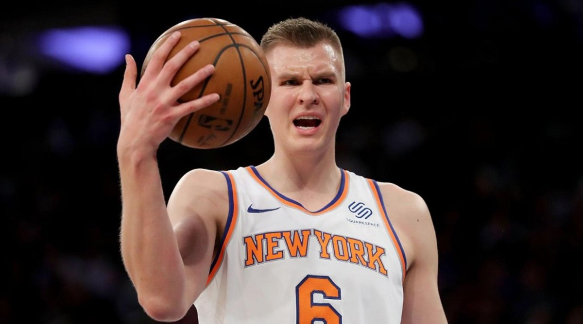 Knicks TV Network Throw Shade At Kristaps Porzingis Via