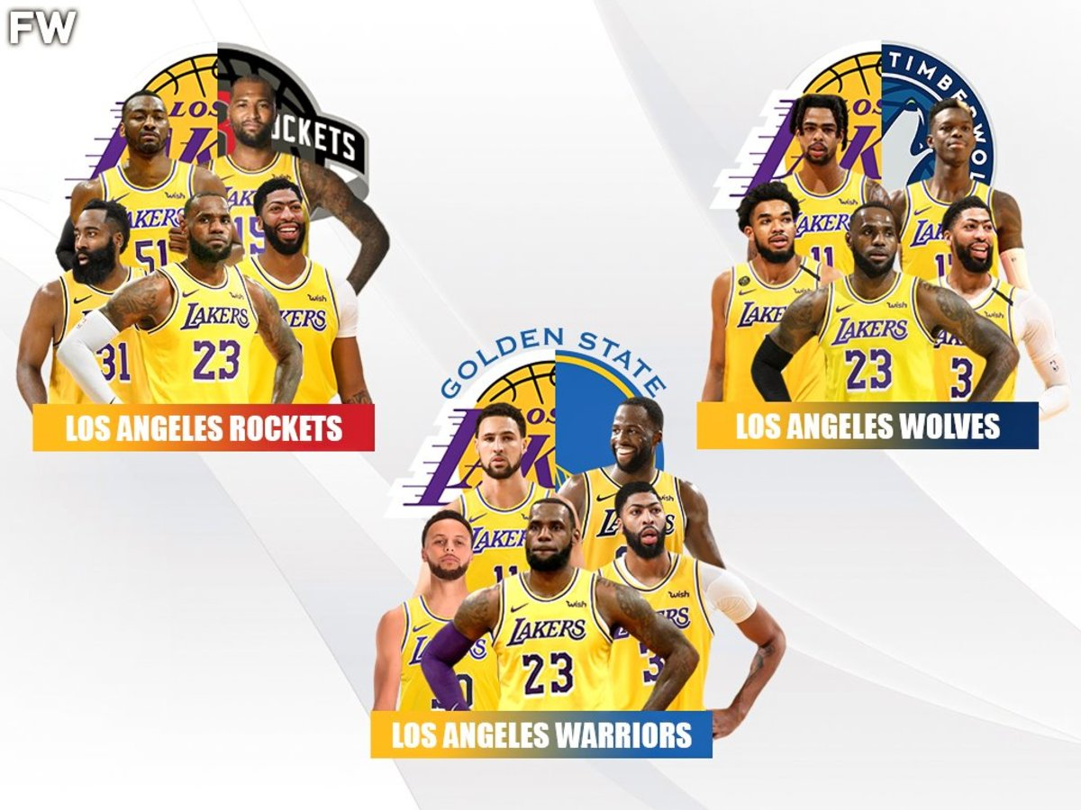 3 Lakers Cyborg Teams Los Angeles Wolves, Los Angeles Rockets, Los Angeles Warriors