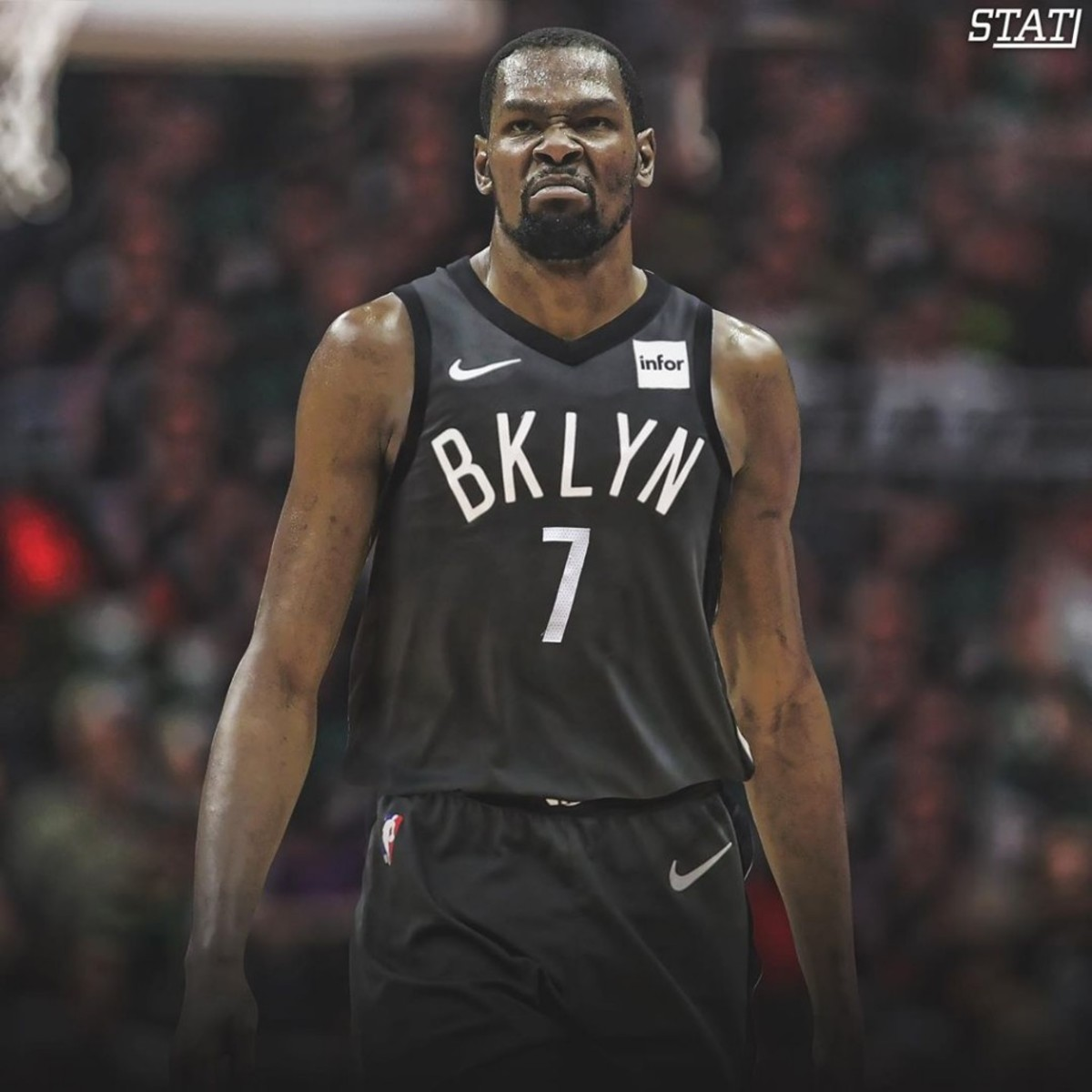 half off 6c639 b76a3 Kevin Durant Explains Why He Will Wear No. 7 With Brooklyn ...