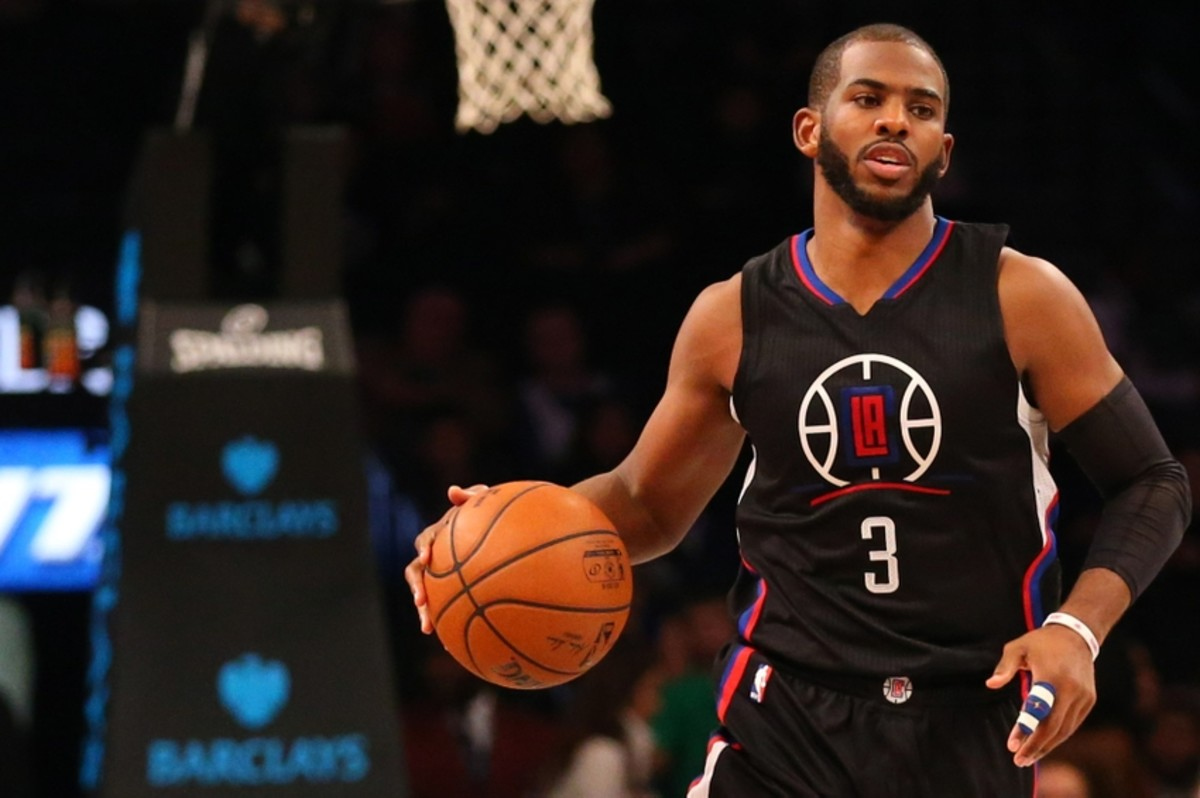 Dec 12, 2015; Brooklyn, NY, USA; Los Angeles Clippers guard Chris Paul (3) advances the ball during the third quarter against the Brooklyn Nets at Barclays Center. Los Angeles Clippers won 105-100. Mandatory Credit: Anthony Gruppuso-USA TODAY Sports