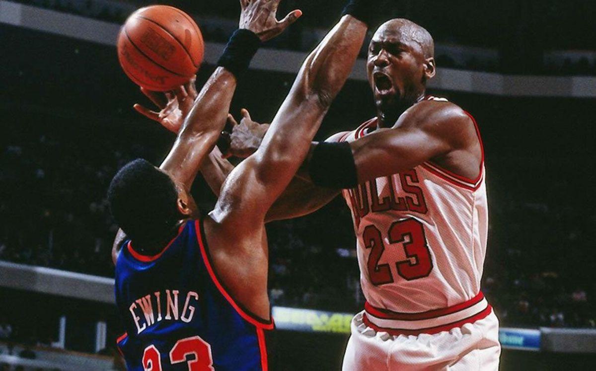 Patrick Ewing vs. Michael Jordan