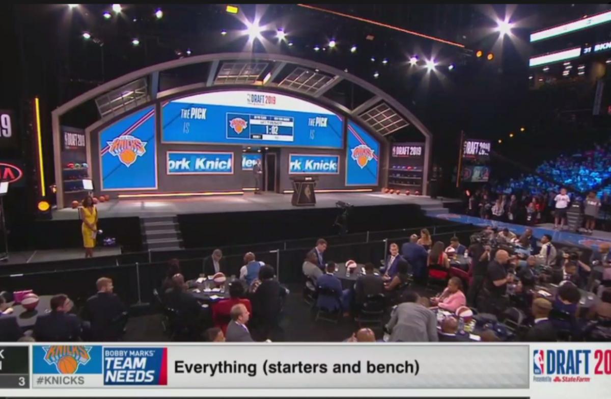 ESPN Trolls The New York Knicks On Draft Day