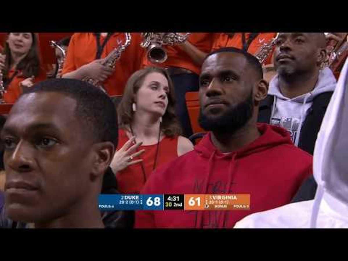 LeBron James Watches Zion Williamson And Duke Vs. Virginia