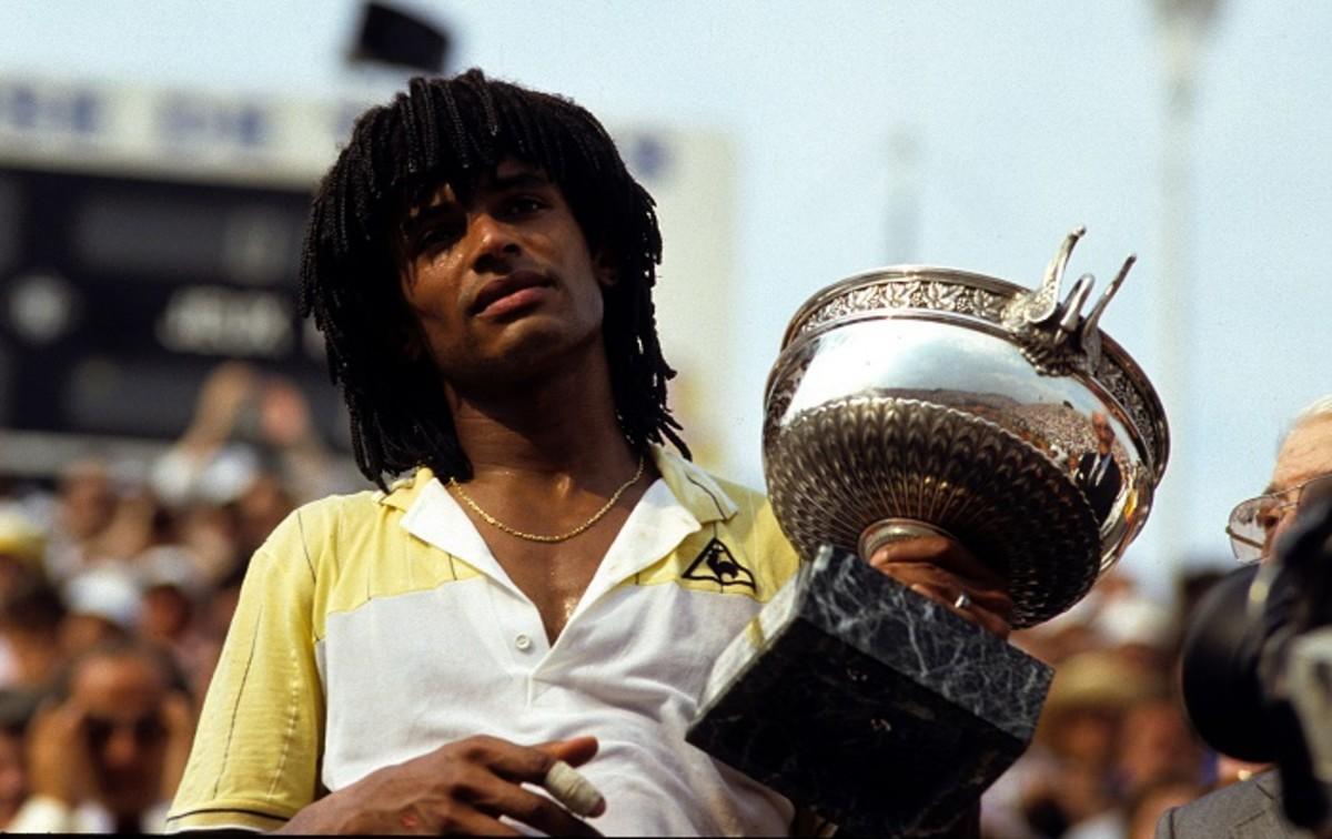 Joie de Yannick Noah - 1983 - Roland Garros