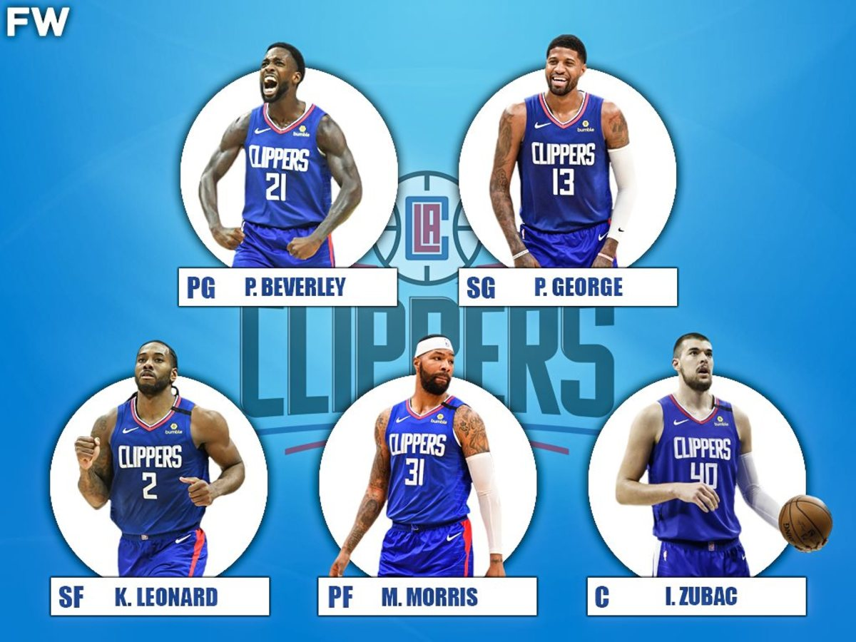 The 2020-21 Projected Starting Lineup For The Los Angeles Clippers