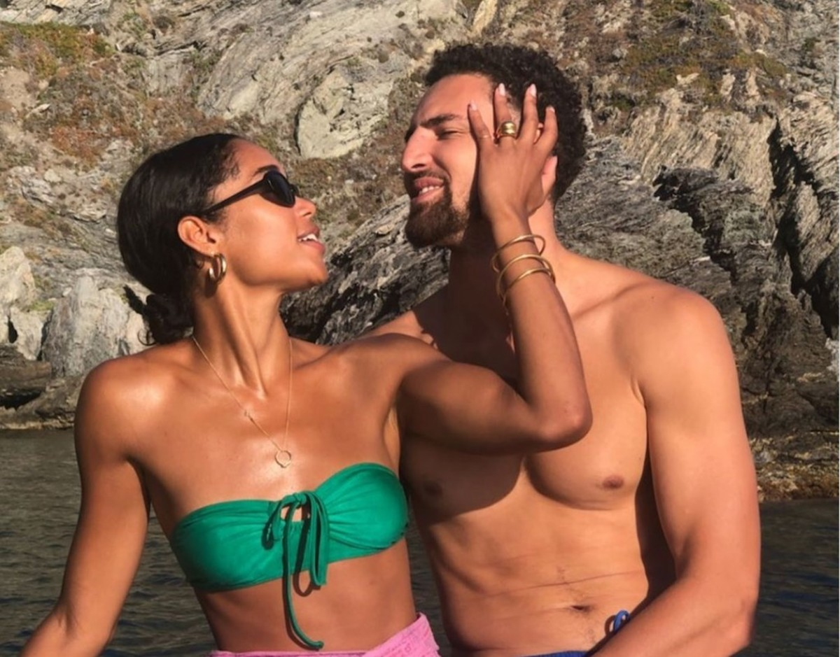 Klay Thompson's Vacation Pictures With Laura Harrier Go Viral