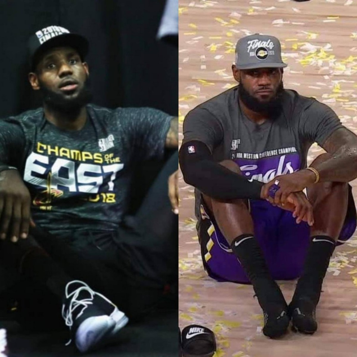 The Two Faces Of LeBron James When He Makes The NBA Finals with The Cavs And With The Lakers