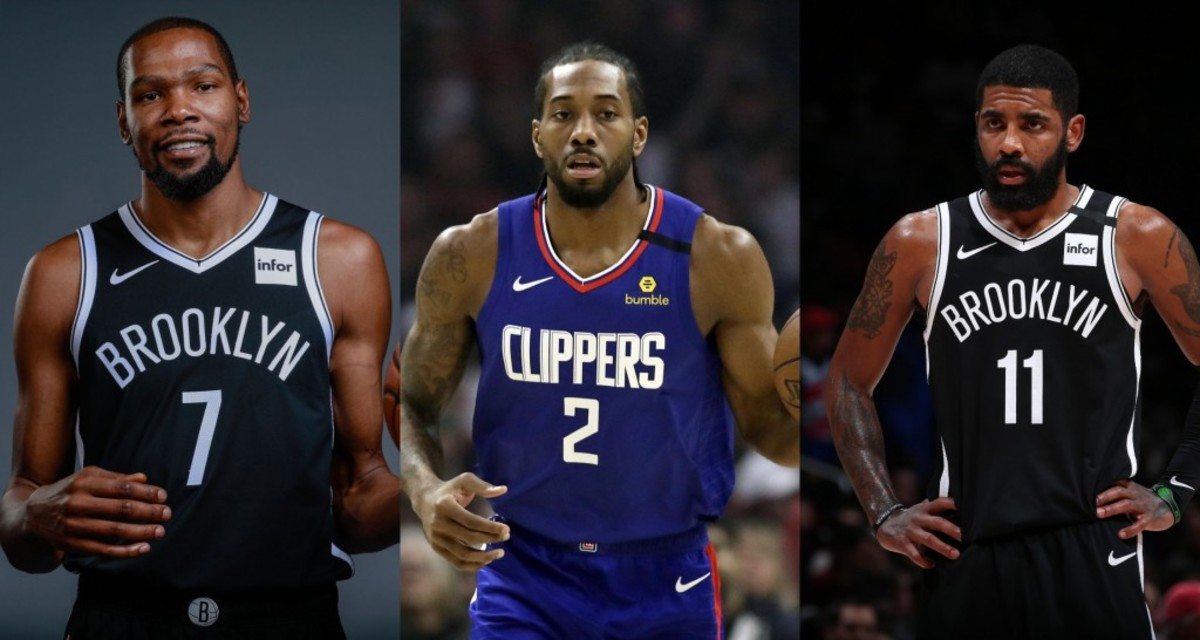 Kevin Durant, Kawhi Leonard, Kyrie Irving (2019)