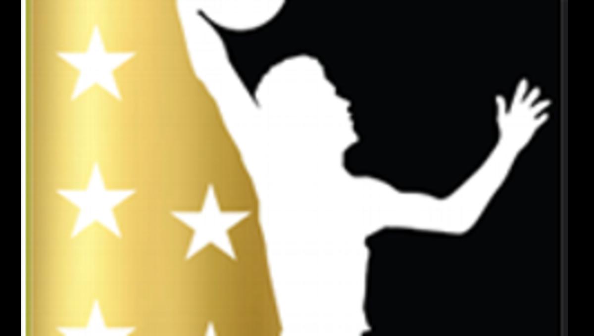 The new Junior Basketball Association logo, featuring Lonzo Ball.
