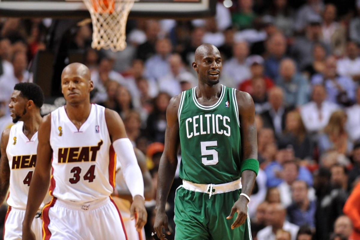 Ray Allen And Kevin Garnett Were Originally Placed Next To Each Other For Hall Of Fame Ceremony, But Never Sat Together