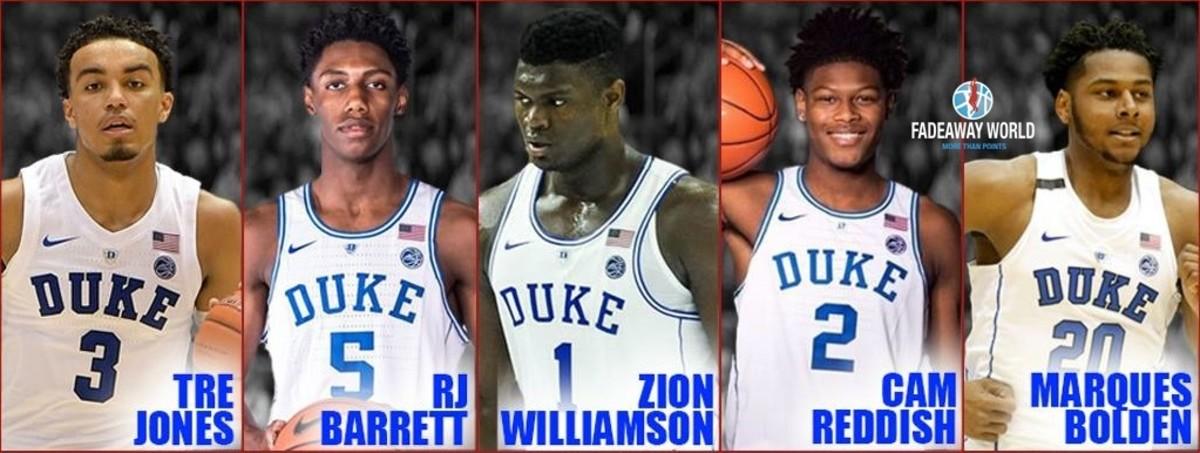 Duke Zion Williamson 12312 3213113