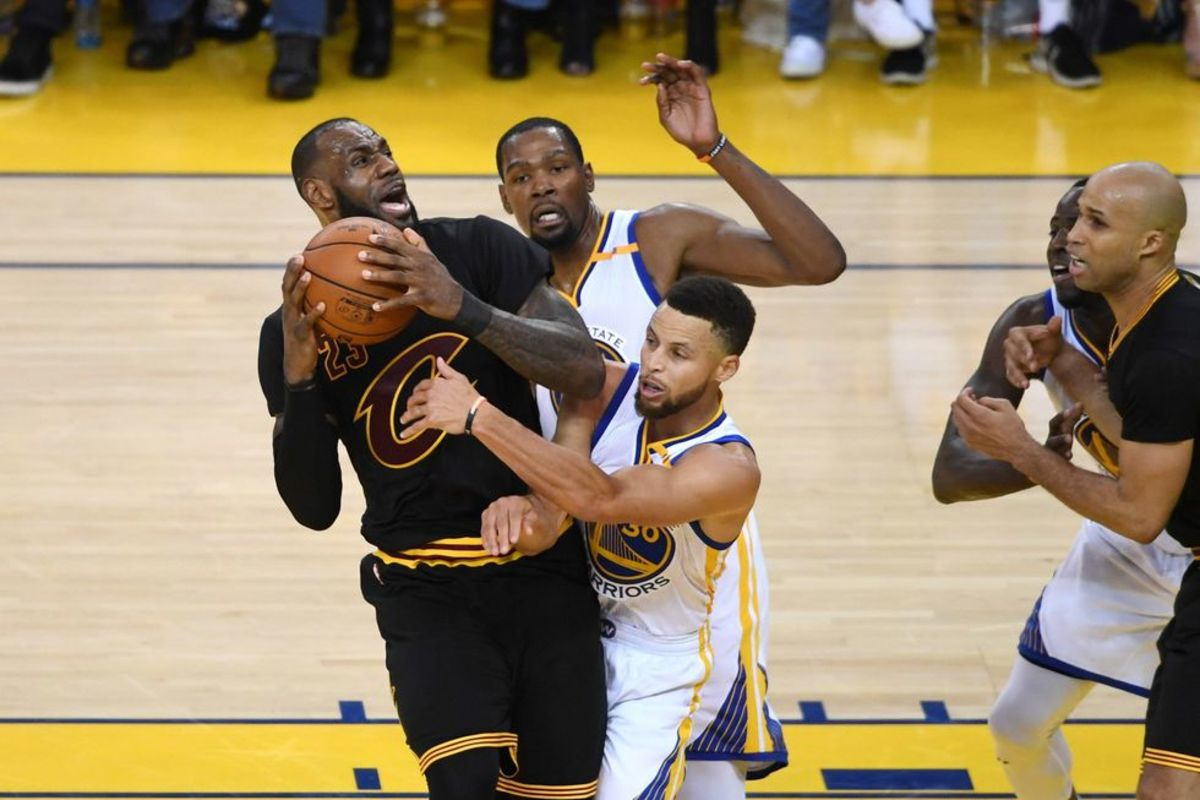 Lebron James' Record Against The KD-Steph Warriors: 3-11, James Harden's Record Against The KD-Steph Warriors: 10-11.