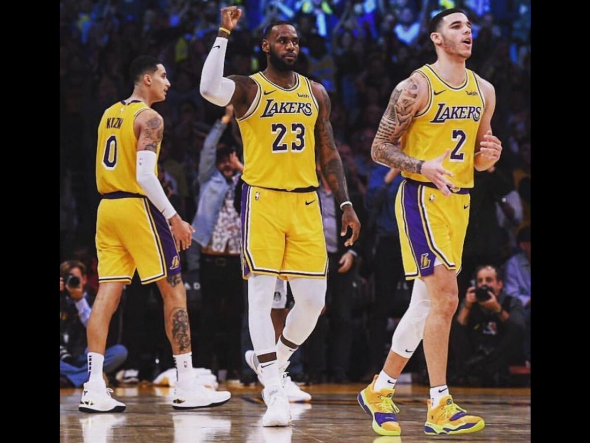 Lakers LeBron Kuzma Lonzo