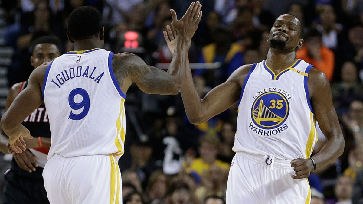 Kevin Durant Appears To Joke About Andre Iguodala's Twitter Controversy During NBA Restart