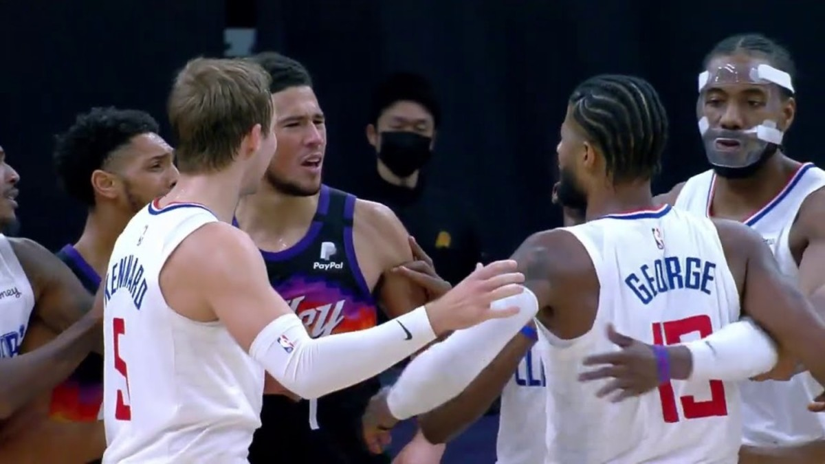 """Paul George On Trash Talk With Chris Paul And Devin Booker: """"I Don't Talk, I Play My Game... It's Dudes Talking. I'll Go Through The Fire... As Long As We Win."""""""