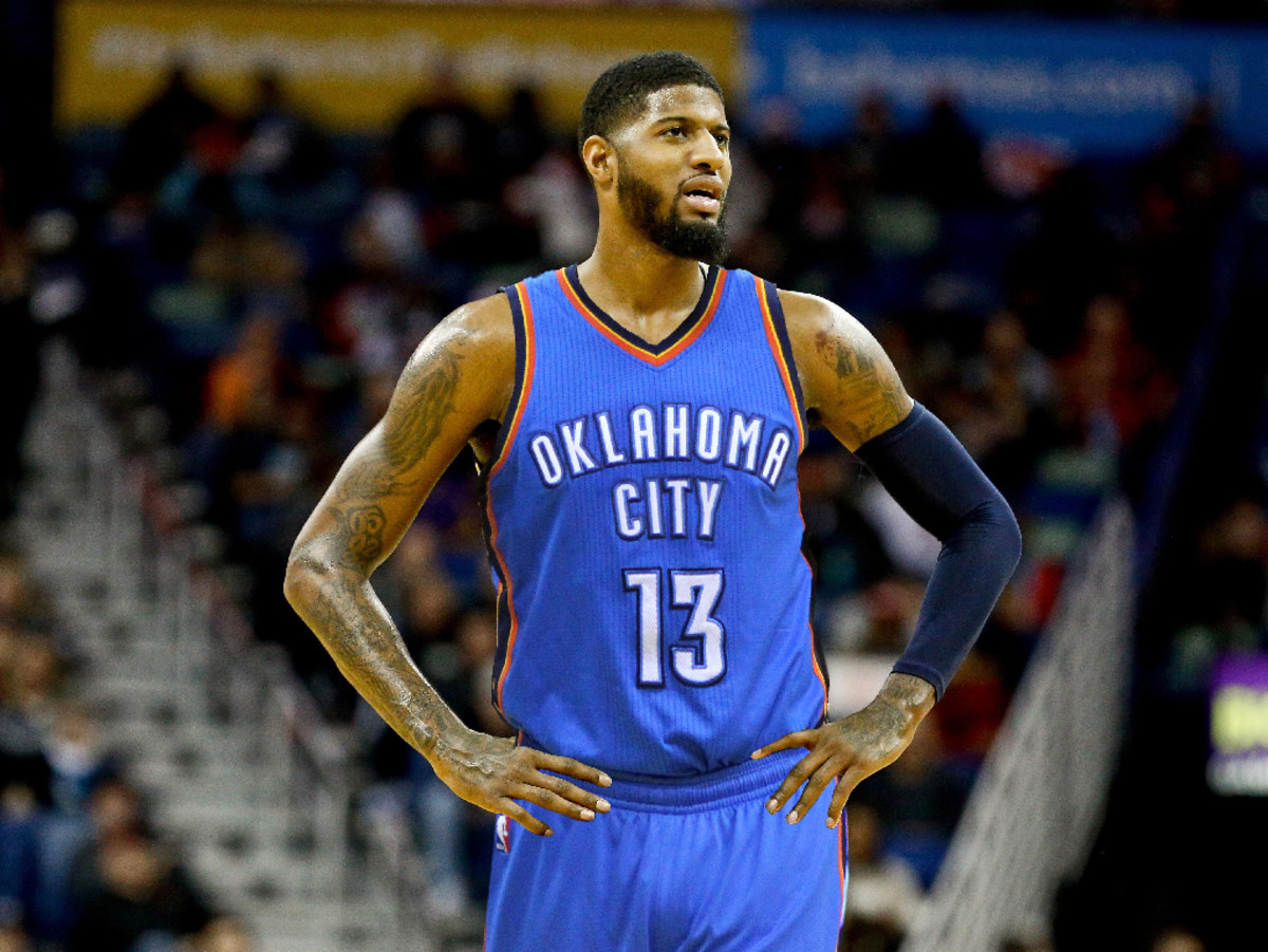 Thunder's Paul George Talked To Kawhi Leonard About Free Agency, But Keeps Details Secret