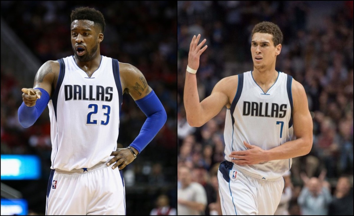 Wesley Matthews and Dwight Powell