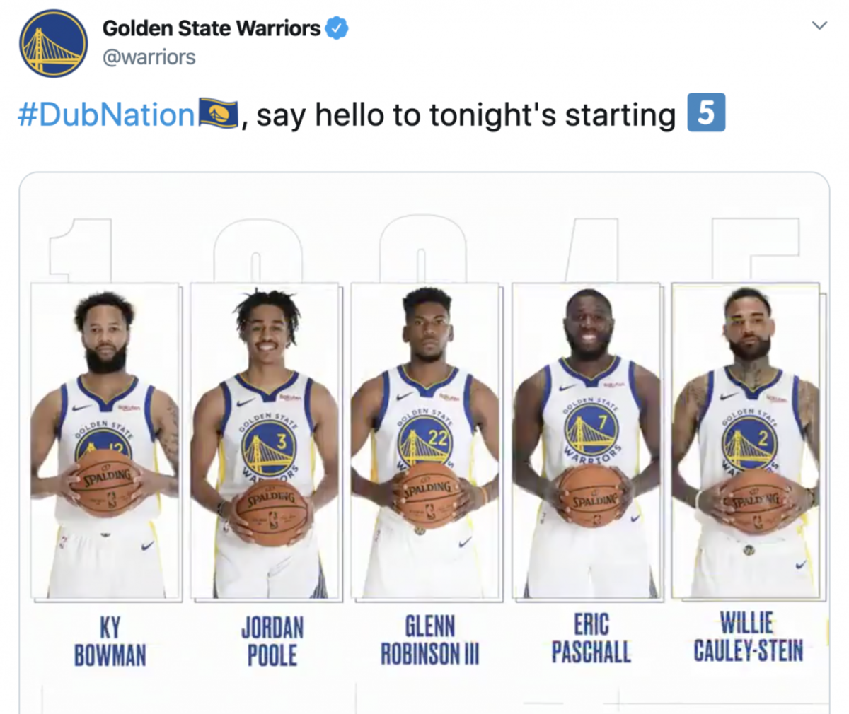 (via @Warriors/Twitter)