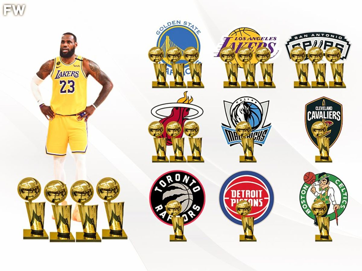 Since 2004 LeBron James Has Won More NBA Titles Than Every Other NBA Franchise