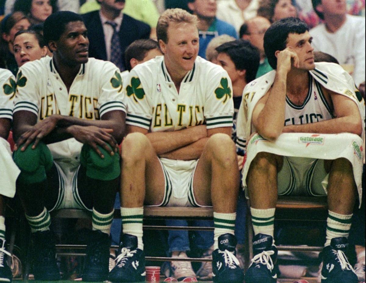 Larry Bird, Kevin McHale and Robert Parish