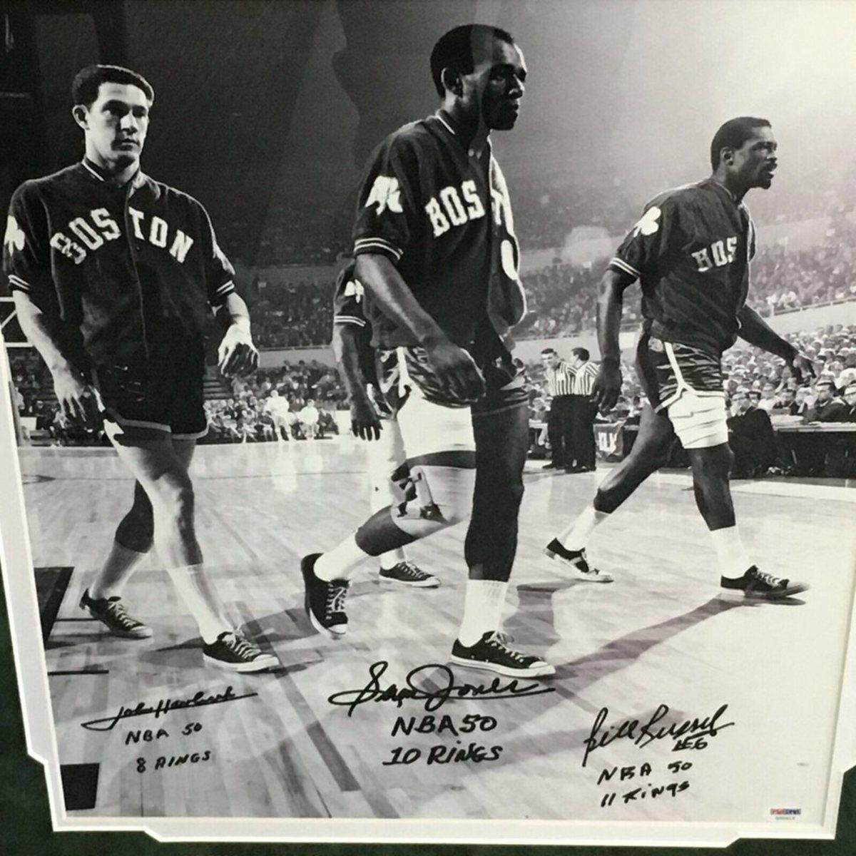 Bill Russell, John Havlicek and Sam Jones