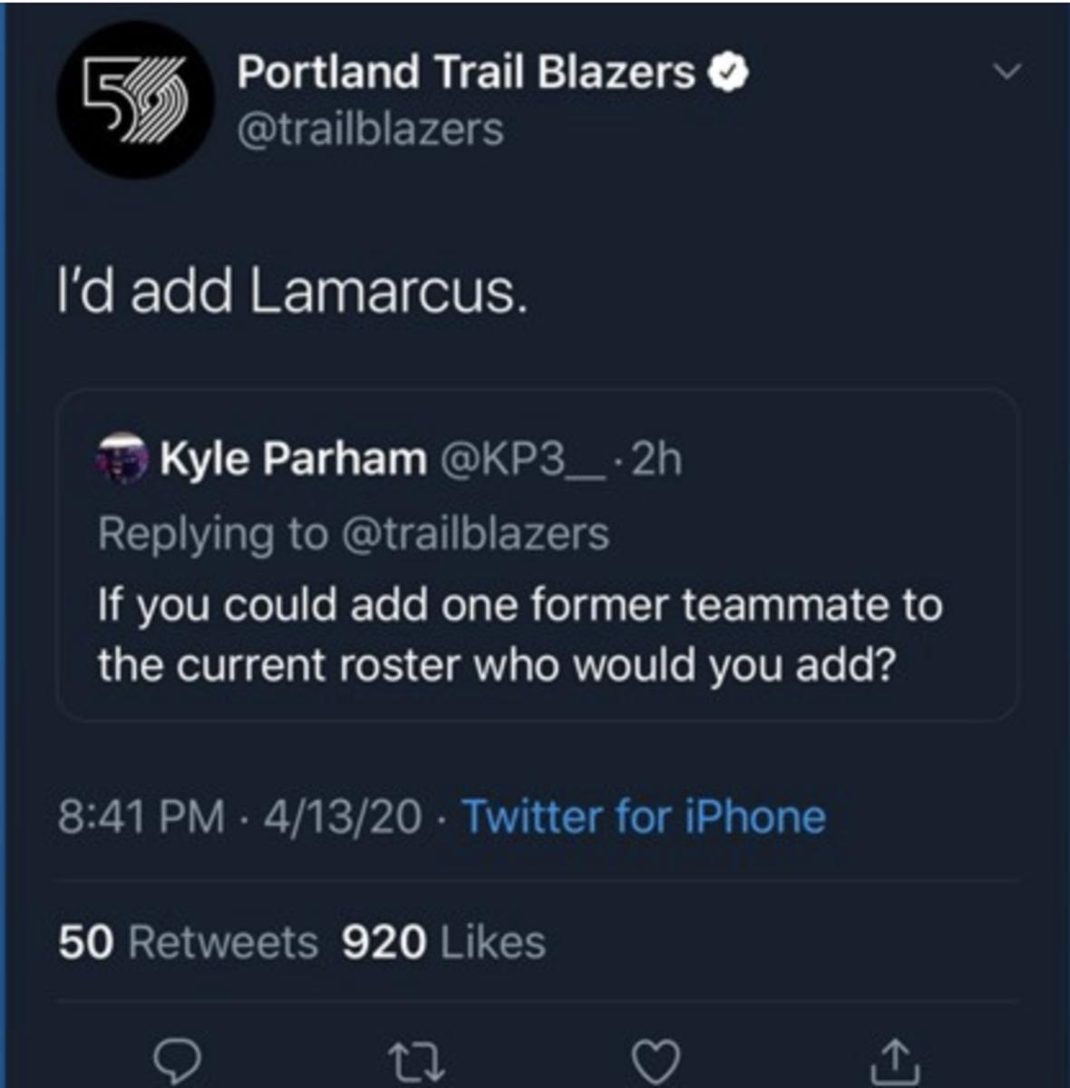 (via Twitter/Blazers)