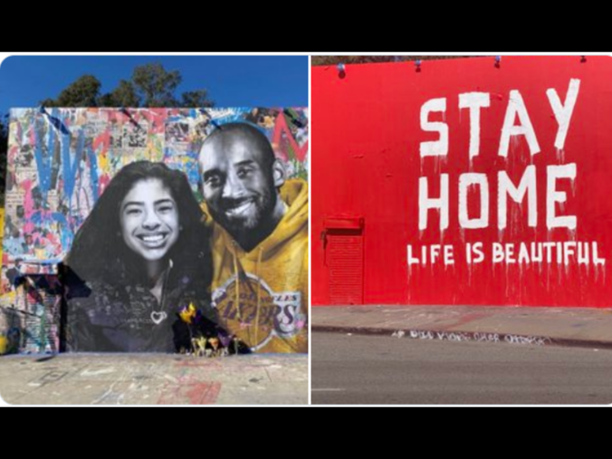 NBA Fans Are Pissed Off After Kobe And Gigi's Mural Gets Replaced