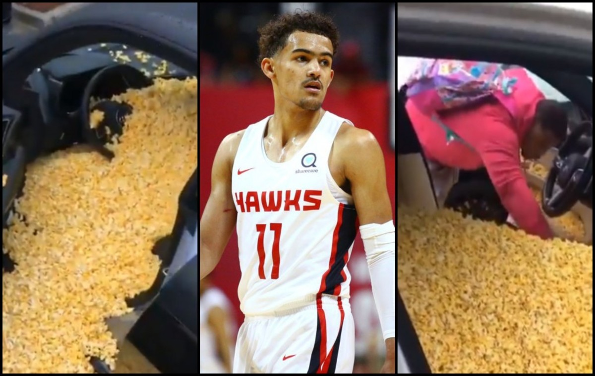 Trae Young Pranked With Popcorn Filling His New $138K Audi R8
