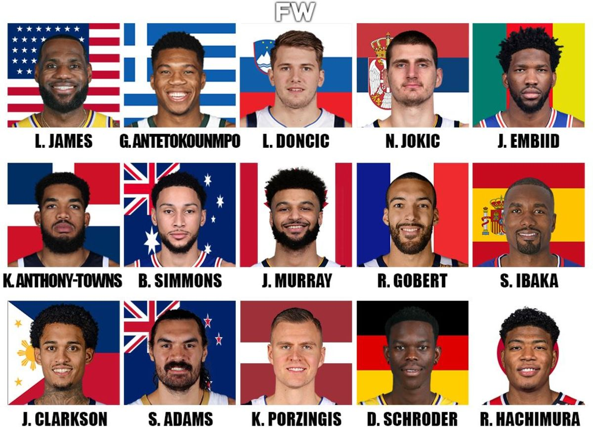Ranking The Best NBA Players Per Country: LeBron James USA, Giannis Antetokounmpo Greece, Luka Doncic Slovenia