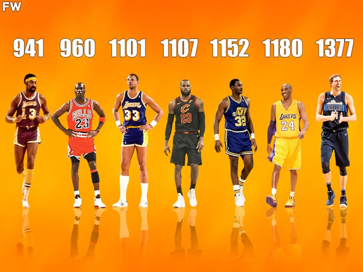 Games Needed To Reach 30,000 Career Points In The NBA Michael Jordan, Wilt Chamberlain, LeBron James, And More