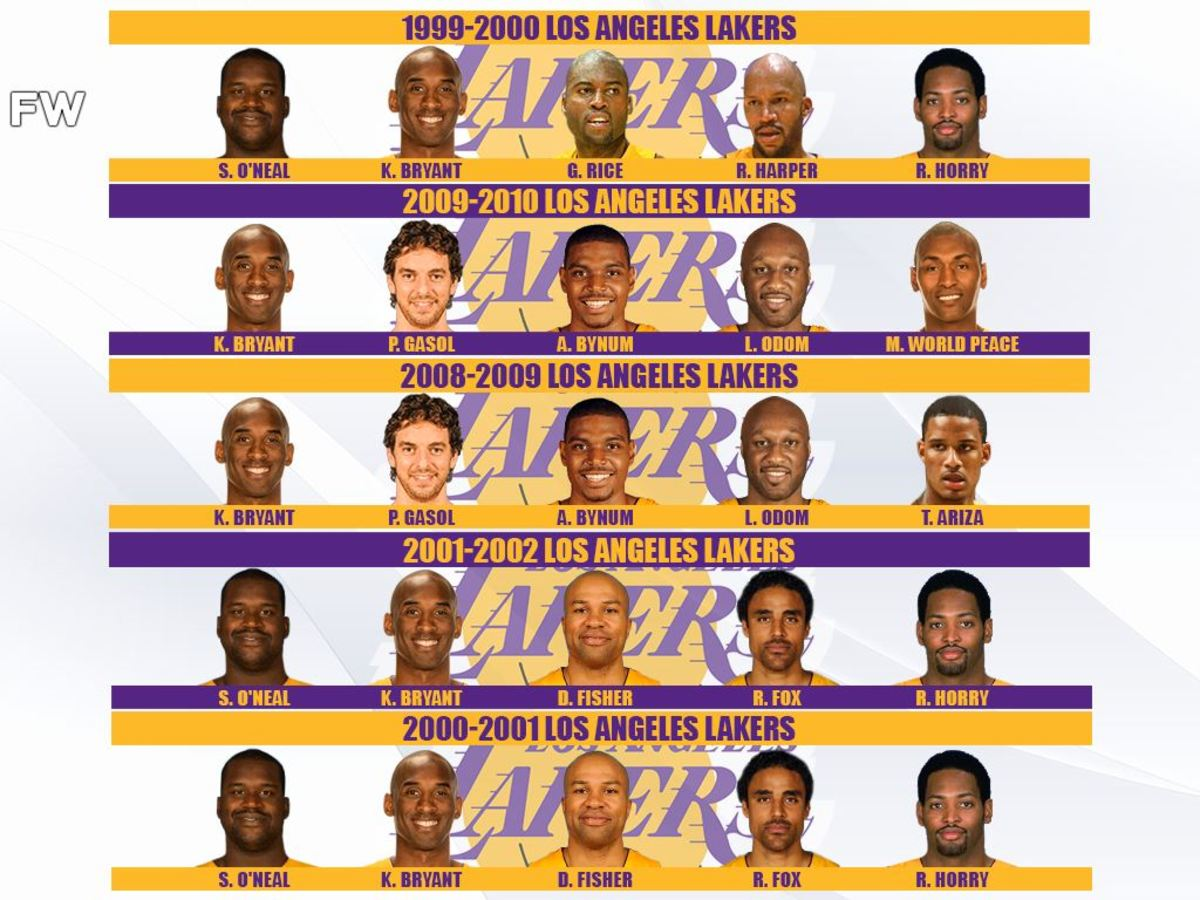Ranking The Greatest Kobe Bryant's Championship Teams: Kobe And Shaq Were An Unstoppable Duo